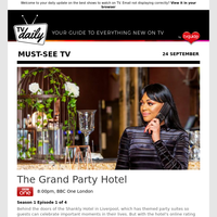 Don't miss: The Grand Party Hotel at 8:00pm on BBC One London
