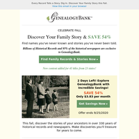 LOWEST PRICE Ends Soon. Join Now-Access {NAME} Family Records 1690-Today.