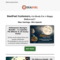 Halloween Specials Package with FREEBIES worth $218 😮