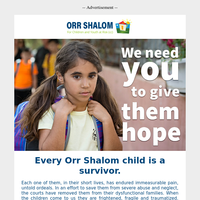Orr Shalom - a family that gives hope