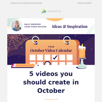 Your October video inspiration is here 📆