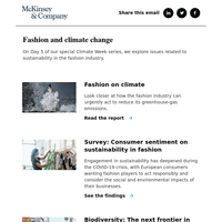 Fashion and climate change: Special Climate Week series