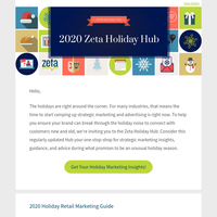 Get Ahead on Your Holiday Marketing W/ Zeta's Holiday Hub...