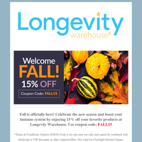 Prepare Your Immune System for Winter (Fall Sale 15% off!)