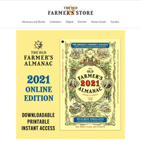 Instant access to your 2021 Old Farmer's Almanac!