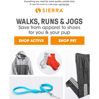 Activewear for you, gear for your pup