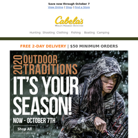 The Outdoor Traditions sale starts TODAY