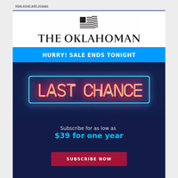 Last chance: $39 for 1 year of unlimited digital access