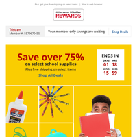 Flash Sale: Save over 75% on school supplies