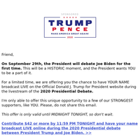 President Trump vs. Joe Biden