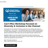 Save Your Seat: Diversity & Inclusion Workshop on Oct. 8