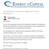 This $3 Stock Could Cure Alzheimer's and Parkinson's
