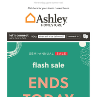 👉 Open promptly! These Flash Sales end TODAY!