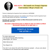 Mitch McConnell, you disgust me