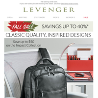 Up to $100 off His & Hers Fine Leather.