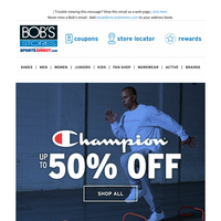 Up to 50% OFF Champion