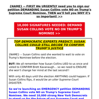 🚨🚨🚨 tell Susan Collins to vote 𝐍𝐎!!! →