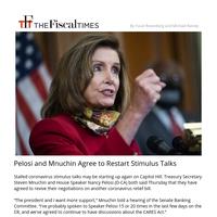 Pelosi and Mnuchin Agree to Restart Stimulus Talks