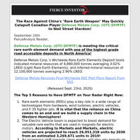 New Profile Defense Metals Corp. (DFMTF) Needs Your Complete Focus, Read Why Now