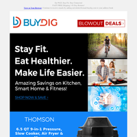 Kitchen, Smart Home, Bikes and Fitness Savings + Fast FREE Shipping 🚚