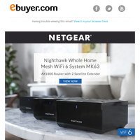 Banish buffering! Amazing connections from NETGEAR.