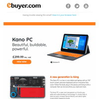 Build + create beautifully with Kano PCs. View here.