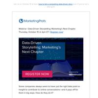 [Webinar] Data-Driven Storytelling: Marketing's Next Chapter