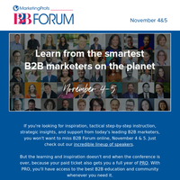 A Who's Who of cutting-edge B2B marketers
