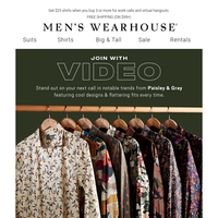 Your next video meeting needs these Paisley & Gray shirts