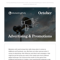 October is Advertising & Promotions Month