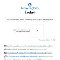Messaging frameworks are vital | Design your life and career | Improve attribution | Virtual necessity | The B2B purchase process | An important skill