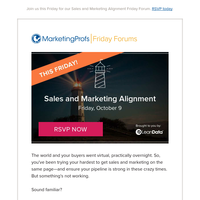 Learn sales and marketing alignment online this Friday