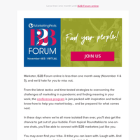 Find your people at B2B Forum online
