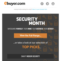 Stay safe - Huge deals this Security Month.