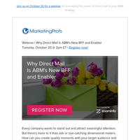 How and why to integrate direct mail into your ABM program
