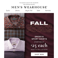 Fall colors we're loving + $25 shirts and more