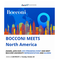 {NAME}, you still have time to sign up for Bocconi special online event💻