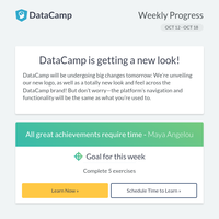 Check out this week's track spotlight + big news from DataCamp