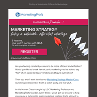 Marketing Strategy Master Class