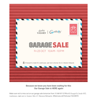 {NAME}, You're invited to our Garage Sale tomorrow! 💌