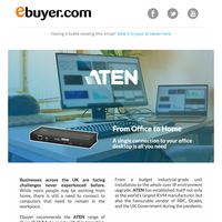 Make Working From Home trouble-free. ATEN Over-IP KVMs.