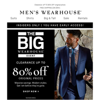 The BIG Wearhouse Event—your early access starts now!
