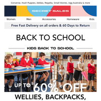 Tick off your back-to-school list with up to 70% off