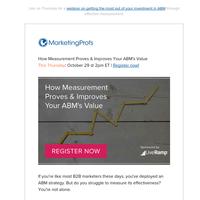 [Thursday] How Measurement Proves & Improves Your ABM's Value