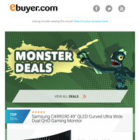 MONSTER DEALS – Get your claws on top gaming gear.