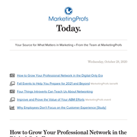 Your professional network in the digital-only era | Networking lessons from introverts | Employees and CX | Benefits of PRO membership