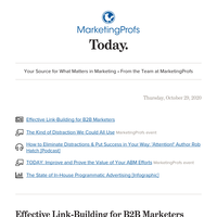 Effective link-building | B2B Forum is almost here | Eliminate distractions | Proving ABM's value | In-house programmatic