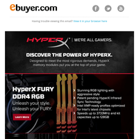 Unleash your fury with HyperX.
