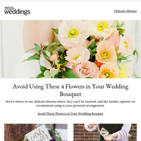 Avoid Using These 4 Flowers in Your Wedding Bouquet