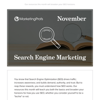 November is Search Engine Marketing Month